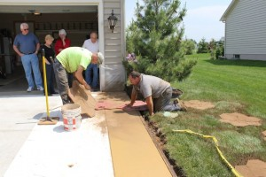 Stamped Concrete - The process in Hanover PA