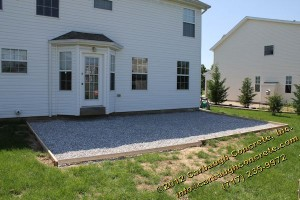 Hanover - Adams County - Stamped Concrete Patio with Border - Pennsylvania Stone with Slate Border - June 2012 - 02