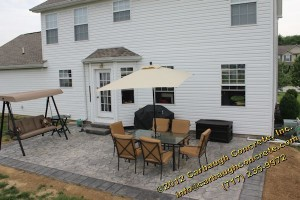 Hanover - Adams County - Stamped Concrete Patio with Border - Pennsylvania Stone with Slate Border - June 2012 - 14