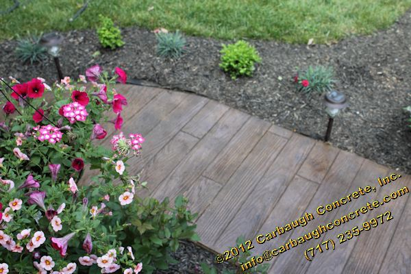 Wood Pattern Stamped Concrete Pattern : Decorative concrete carbaugh contractor hanover pa