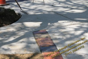 Hanover - York County - Concrete Driveway with Stamped Concrete Driveway Border - Slate Texture - April 2012 - 09