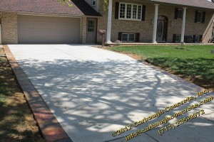 Hanover - York County - Concrete Driveway with Stamped Concrete Driveway Border - Slate Texture - April 2012 - 10