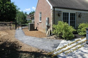 Hanover - York County - Flagstone Stamped Concrete Patio, Stoop, Sidewalk - June 2012 - 45