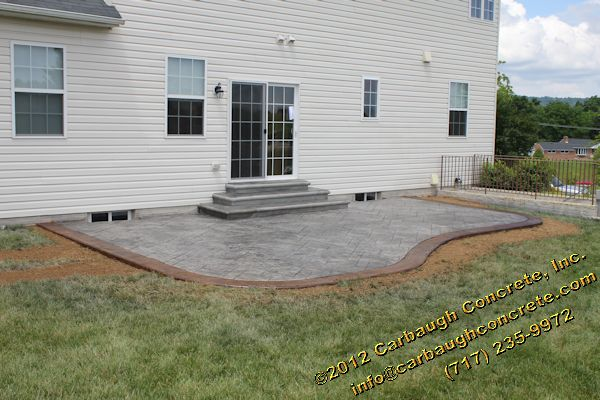 Stamped Concrete Patio And Step In York PA | Carbaugh Concrete Contractor  Hanover PA