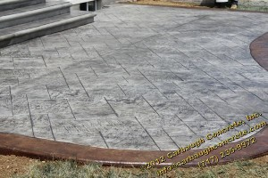 Beautiful new stamped concrete patio