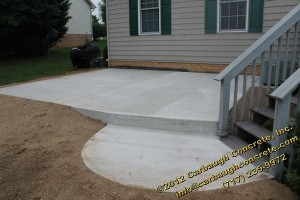 Littlestown-Adams County-Regal Ashlar Stampced Concrete Patio with Slate Stamped Concrete Border-Carbaugh Concrete - August 2012 - 04