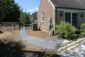Hanover - York County - Flagstone Stamped Concrete Patio, Stoop, Sidewalk - June 2012 - 44