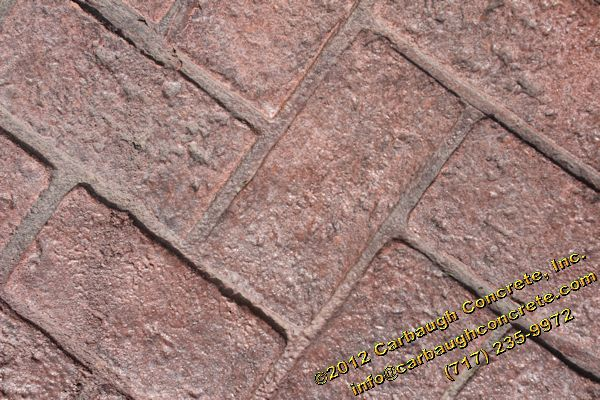 Hanover   York County   Stamped Concrete Patio And Sidewalk   Herringbone  Used Brick   June